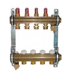 Коллектор для теплого пола Herz DN 25 на 10 отводов
