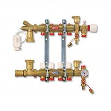 """Коллектор для систем напольного/потолочного отопления Giacomini 1"""" x 18 /10"""