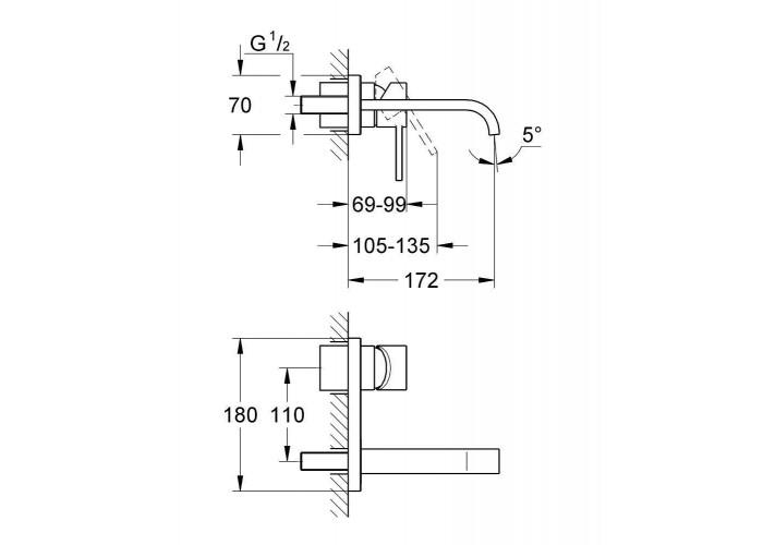 Grohe Allure Смеситель для раковины на два отверстия S-Size (19309000)