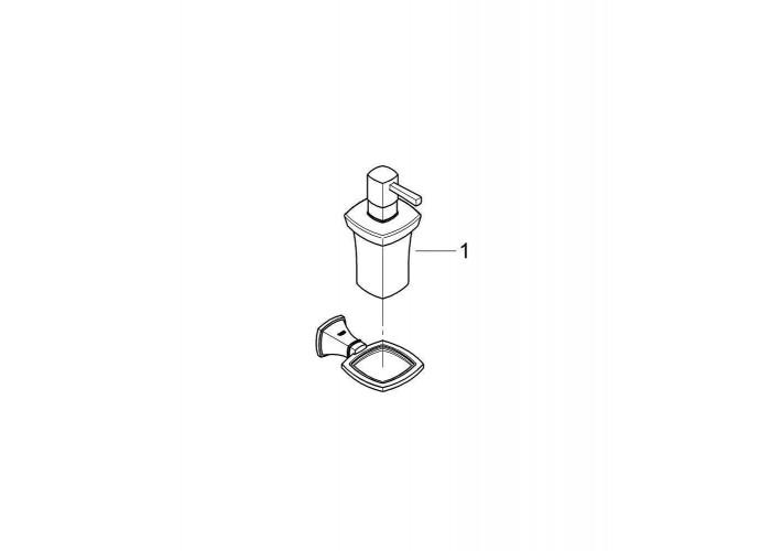 Grohe Grandera Держатель с керамическим дозатором жидкого мыла (40627IG0)