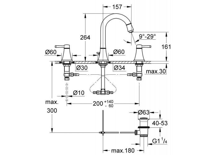 Grohe Grandera Смеситель для раковины на 3 отверстия M-Size (20389IG0)