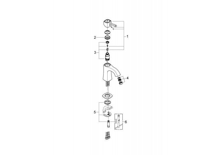 Grohe Grandera Смеситель однорычажный для раковины M-Size (23310IG0)