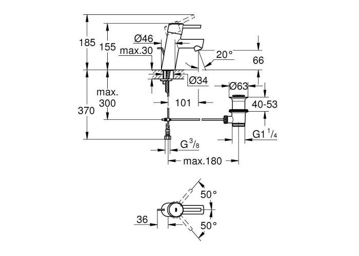 Grohe Concetto Смеситель однорычажный для раковины S-Size (3220410E)