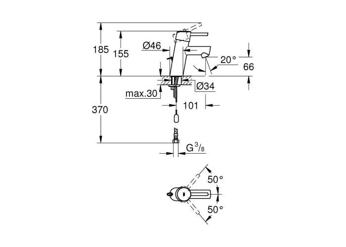 Grohe Concetto Смеситель однорычажный для раковины S-Size (3220610E)