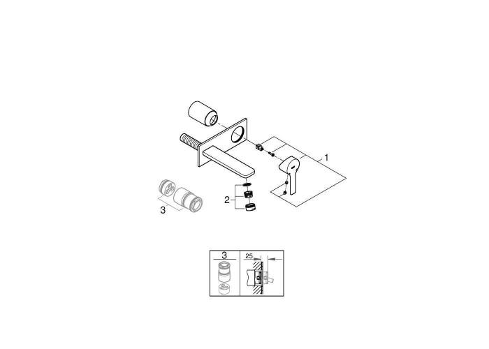 Grohe Lineare Смеситель для раковины на два отверстия M-Size (19409001)