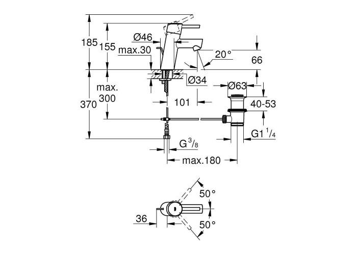 Grohe Concetto Смеситель однорычажный для раковины S-Size (32204001)