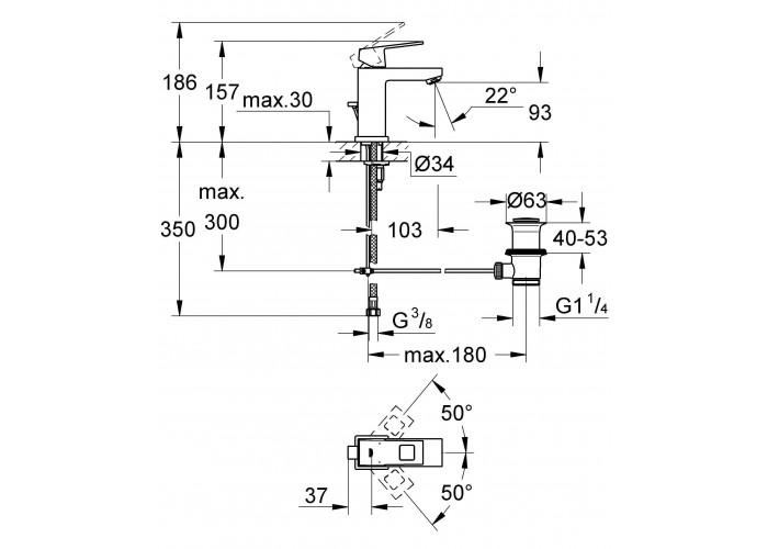 Grohe Eurocube Смеситель однорычажный для раковины S-Size (2312700E)