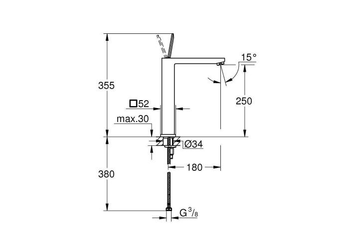 Grohe Eurocube Joy Смеситель однорычажный для раковины XL-Size (23661000)