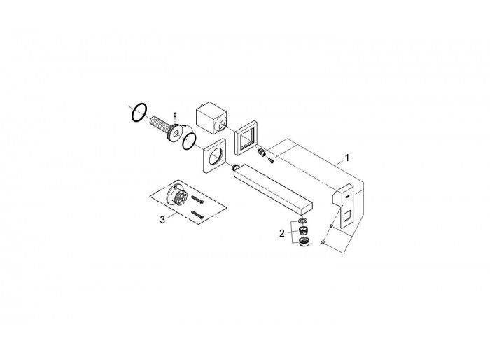 Grohe Eurocube Смеситель для раковины на два отверстия M-Size (23447000)