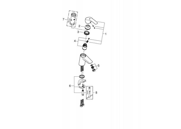 Grohe Eurosmart Смеситель однорычажный для раковины S-Size (32467002)