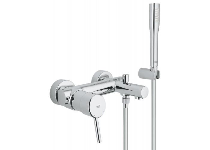 Grohe Concetto Смеситель однорычажный для ванны с душевым гарнитуром (32212001)