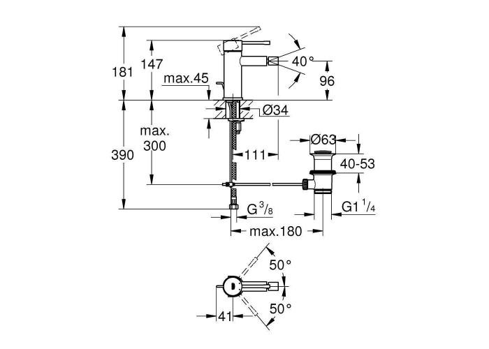 Grohe Essence New Смеситель для биде S-Size (32935001)