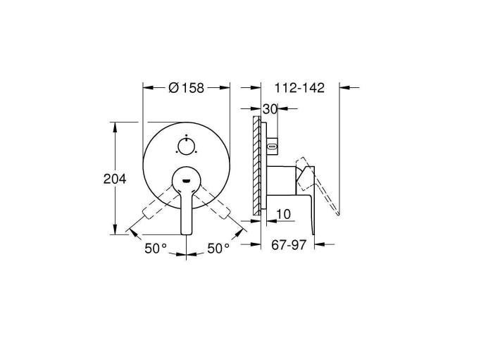 Grohe Lineare Смеситель однорычажный на 3 выхода (24095001)