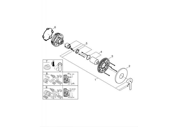 Grohe Lineare Смеситель однорычажный на 1 выход (24063001)