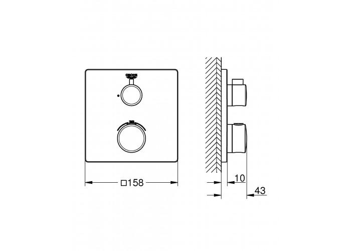 Grohe Grohtherm Термостат для душа (24078000)
