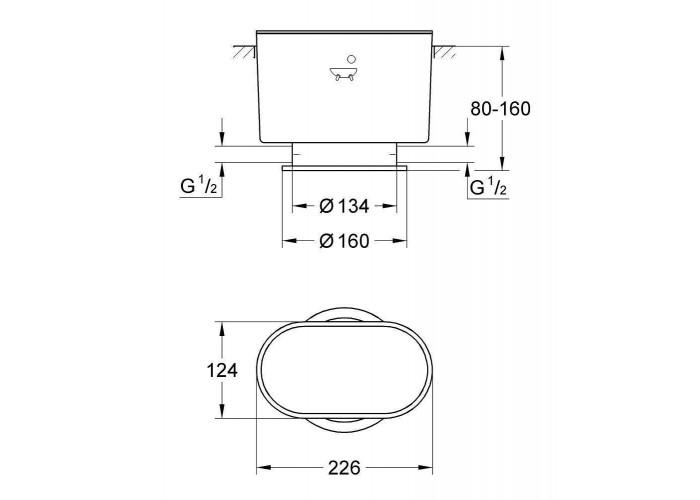 Grohe Atrio Монтажный набор для отдельностоящего смесителя на одно отверстие 25044000 (45473000)