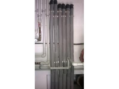 Система утепленных в мерилон трубопроводов из полипропилена для системы отопления на частный дом