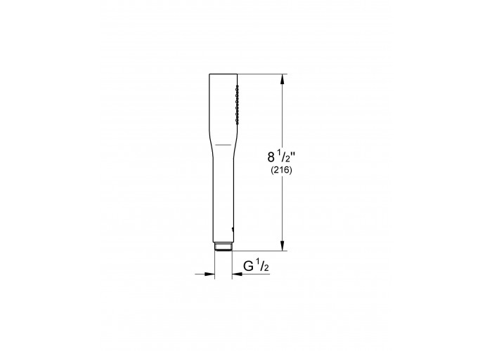 Grohe Euphoria Cosmopolitan Stick Ручной душ, 1 вид струи (27400000)