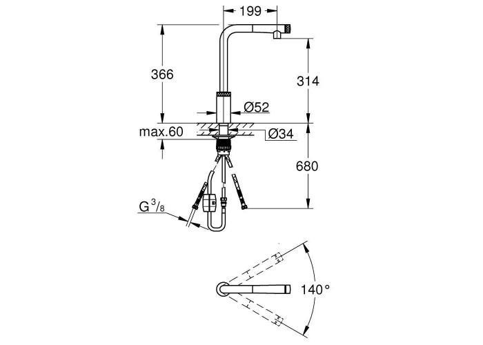 Grohe Minta SmartControl Смеситель для мойки (31613DC0)
