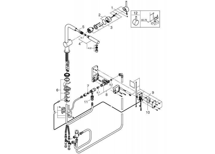 Grohe Minta Touch Сенсорный однорычажный смеситель для мойки (31360001)