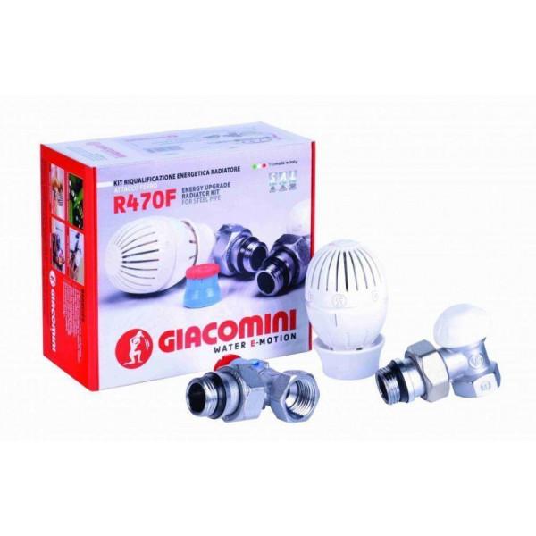 Комплект термостатический угловой Giacomini R470FX003