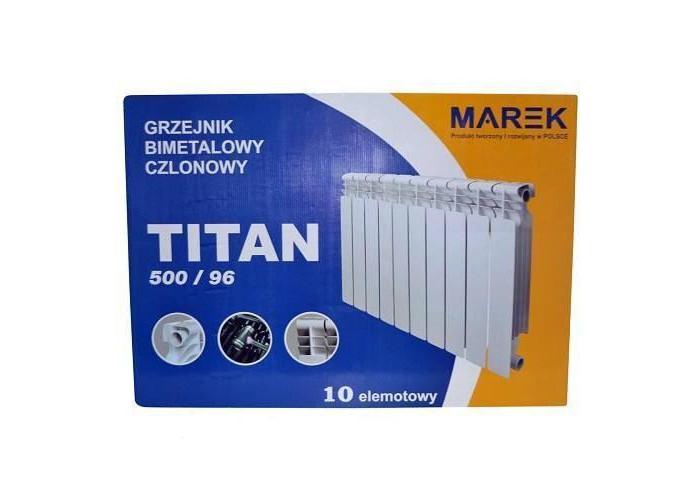 Биметаллический радиатор Marek Titan 500/96