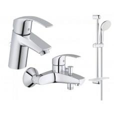 Grohe Набор смесителей Eurosmart 3 в 1, для ванны и душа (123238S)