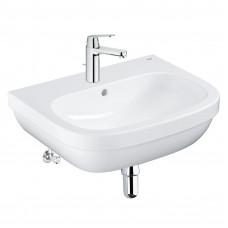 Grohe Набор для ванной : раковина Euro 60, смеситель Eurosmart Cosmopolitain, сифон, вентили (ECESC01)