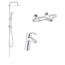 Grohe Набор смесителей для ванной комнаты с термостатом (34102TS)