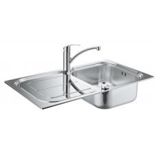 Grohe Комплект Мойка для кухни 860 x 500 мм + Eurosmart Однорычажный смеситель (31565SD0)