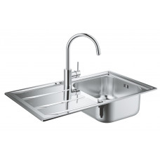 Grohe Комплект Мойка для кухни 860 x 500 мм + Concetto Однорычажный смеситель (31570SD0)