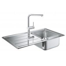 Grohe Комплект Мойка для кухни 860 x 500 мм + Minta Однорычажный смеситель (31573SD0)