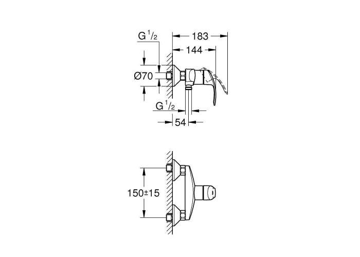 Grohe Eurosmart набор смесителей для душа M-Size (123244M)