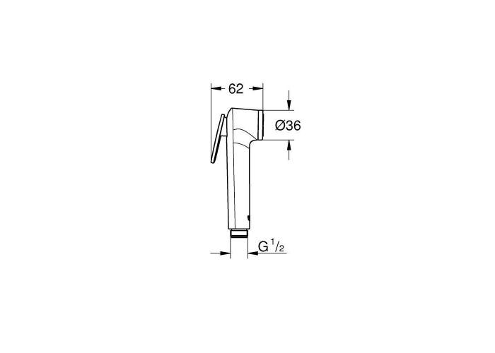 Grohe BauEdge Набор 4 в 1 для туалета (28512004)
