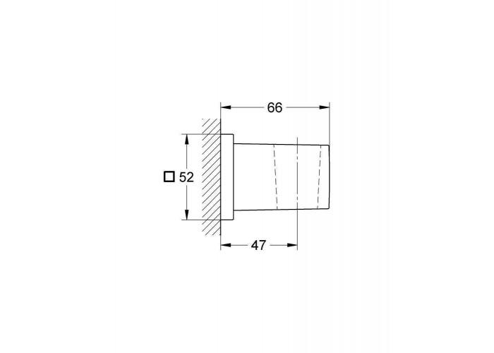 Grohe Euphoria Cube Настенный держатель для ручного душа (27693000)
