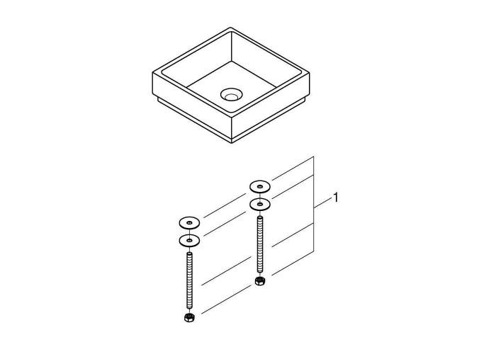 Grohe Cube Ceramic Раковина свободностоящая 400 x 400 мм (3948200H)