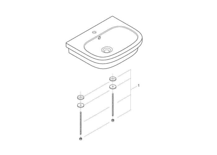 Grohe Euro Ceramic Раковина для столешницы накладная 600 х 480 мм (39337000)