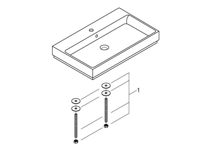 Grohe Cube Ceramic Раковина для столешницы накладная 800х490 мм (3947600H)