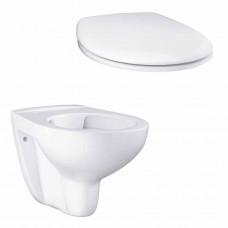 Grohe Подвесной безободковый унитаз GROHE Bau Ceramic с сиденьем без микролифта (NW0002)