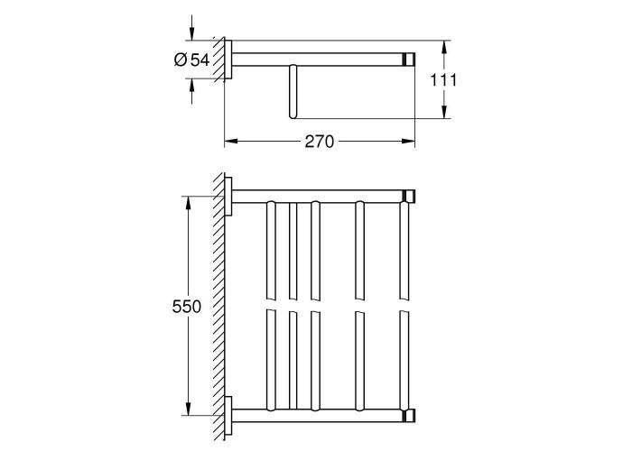 Grohe Essentials Держатель для полотенец (40800DL1)