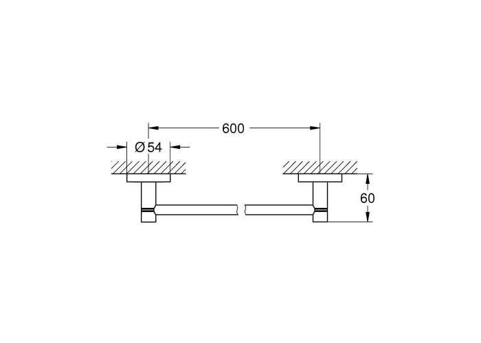 Grohe Essentials Держатель для полотенца 600 мм (40366AL1)