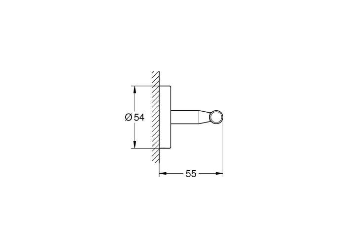Grohe BauCosmopolitan Крючок для одежды (40461001)