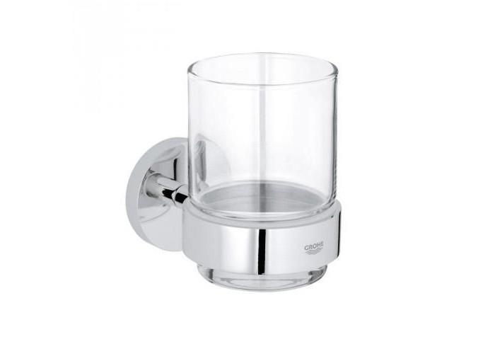 Grohe Essentials Стакан стеклянный с держателем (40447001)