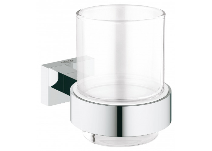 Grohe Essentials Cube Стакан стеклянный с держателем (40755001)