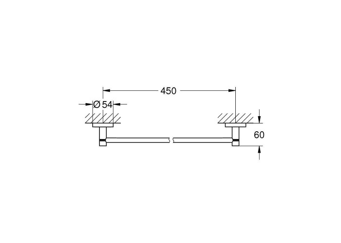 Grohe Essentials Держатель для банного полотенца 500 мм (40688DL1)