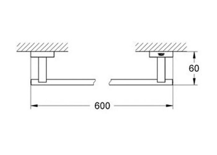 Grohe Essentials Cube Держатель для банного полотенца 600 мм (40509001)