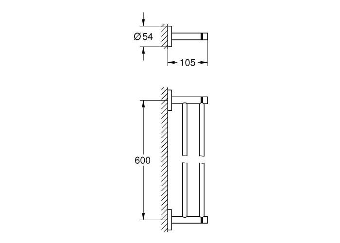 Grohe Essentials Держатель полотенца, двойной (40802AL1)