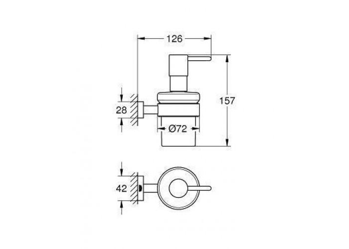 Grohe Essentials Cube Дозатор для жидкого мыла с держателем (40756001)