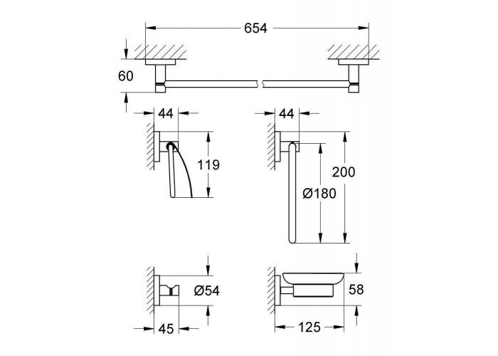 Grohe Essentials набор аксесуаров 5 в 1 (40344001)