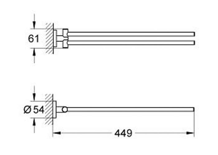 Grohe Essentials Полотенцедержатель (40371001)